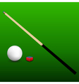 Billiard Cue Ball and Chalk vector image