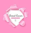breast cancer awareness social media post vector image