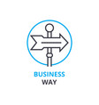business way concept outline icon linear sign vector image vector image