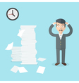 Businessman has a lot of work to do Flat office vector image vector image