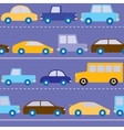Cars on the road pattern vector image vector image