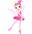 cartoon ballerina vector image vector image