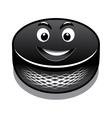 Cartoon hockey puck vector image vector image