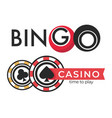casino isolated icons poker and bingo gambling vector image