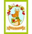 christmas deer stock small vector image vector image