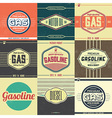 Collection of Retro Gasoline Signs Motor Oil vector image vector image