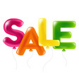 colorful sale text of balloons vector image