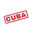 Cuba Text Rubber Stamp vector image vector image
