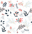 cute sweet winter floral flower seamless pattern vector image vector image