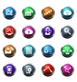 Data analytic and social network icons vector image vector image