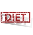 DIET outlined stamp vector image