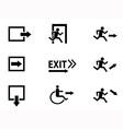 exit icon vector image vector image
