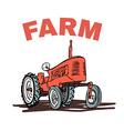 farm tractor grunge t-shirt print design vector image vector image