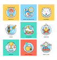 Flat Color Line Design Concepts Icons 4 vector image vector image