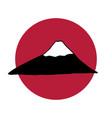 fujiyama mountain logo vector image