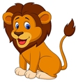 Funny lion cartoon vector image vector image