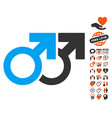 gay couple icon with lovely bonus vector image vector image