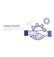 hand shake icon business handshake partnership and vector image vector image