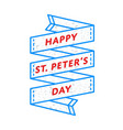 happy st peters day greeting emblem vector image vector image