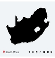 High detailed map of South Africa with navigation vector image vector image