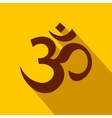 Hindu om symbol icon flat style vector image vector image