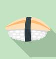 hotate sushi icon flat style vector image