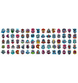 huge set colorful sports logos emblems logos vector image vector image