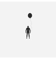 Human and balloon vector image vector image