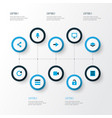 interface icons colored set with layer reload vector image vector image