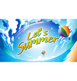 lets summer vector image