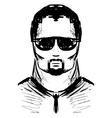Man in dark glasses vector image