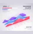 modern infographic elements on light background vector image vector image