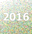 New year 2016 lettering on background confetti vector image
