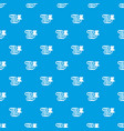 paper clip pattern seamless blue vector image vector image