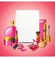 paper cosmetics vector image vector image
