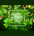 patricks day irish holiday clovers with serpentine vector image vector image