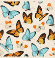 pattern with high detailed tropic butterfly vector image vector image