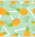 pineapple seamless pattern on abstract background vector image
