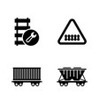 railway carriage train simple related vector image vector image