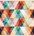 retro triangle mosaic seamless pattern vector image