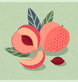 ripe peaches poster packaging