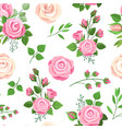 roses seamless pattern red white and pink roses vector image vector image