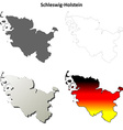 Schleswig-Holstein blank outline map set vector image vector image