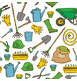 seamless pattern with garden tools vector image vector image