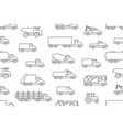 seamless pattern with trucks vector image