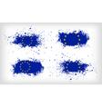 set four grunge ink spattered european union vector image vector image