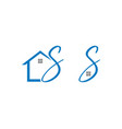set of home initial letter s logo design vector image vector image