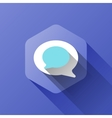 simple of chat icon in flat style vector image