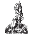 sitting sphinx is a modern french andiron design vector image vector image