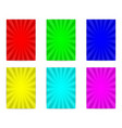 six colorful poster vector image vector image